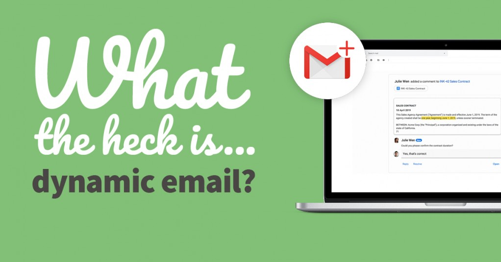 What the heck is... dynamic email?