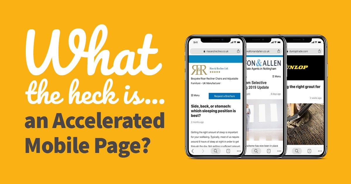 What the heck is... an Accelerated Mobile Page?